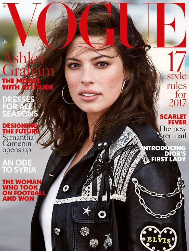 UK Vogue January 2017 : Ashley Graham by Patrick Demarchelier