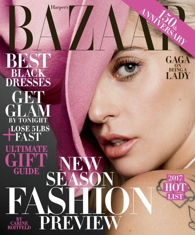 US Harper's Bazaar December 2016 / January 2017 : Lady Gaga by Inez & Vinoodh