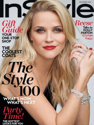 US InStyle December 2016 : Reese Witherspoon by Thomas Whiteside