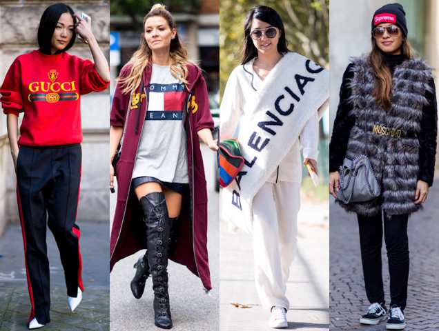 logos spotted on street style at Fashion Week