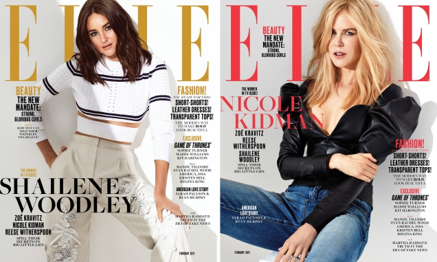 US Elle February 2017 : The Women In TV Issue by Alexi Lubomirski