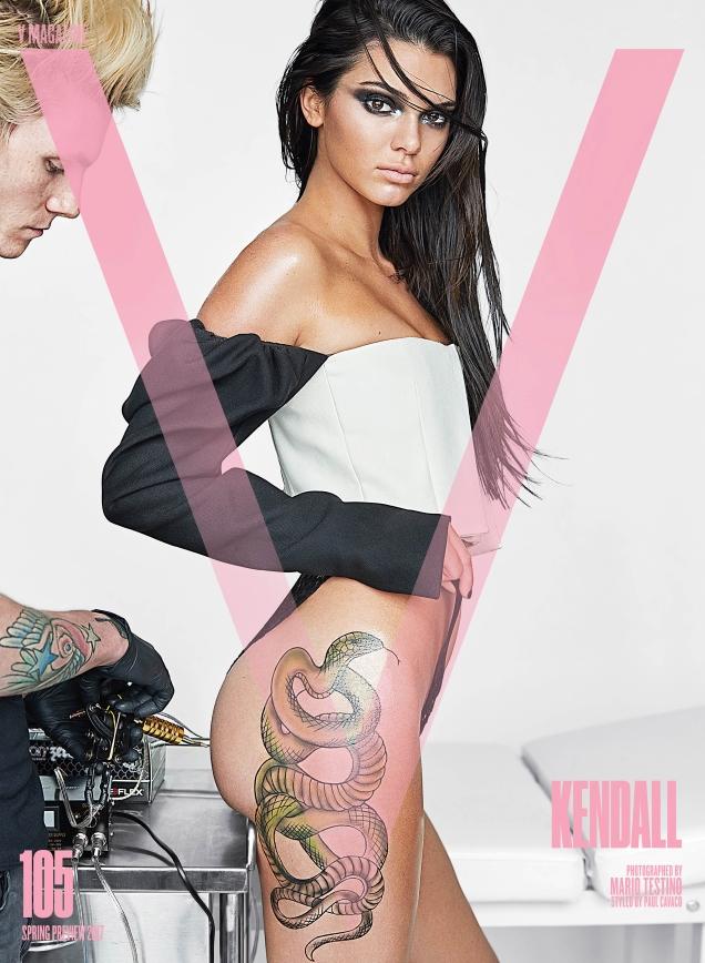 V Magazine #105 : Kendall, Carolyn, Lara, Amber, Joan & Ellen by Mario Testino