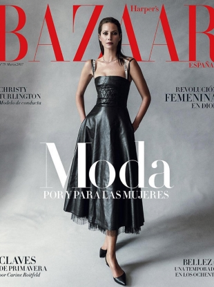 Harper's Bazaar España March 2017 : Christy Turlington by Norman Jean Roy