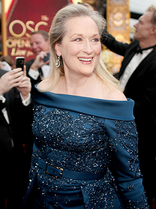 Meryl Streep in Elie Saab at the 89th Annual Academy Awards.