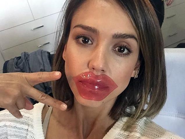 Фото в инстаграме губы