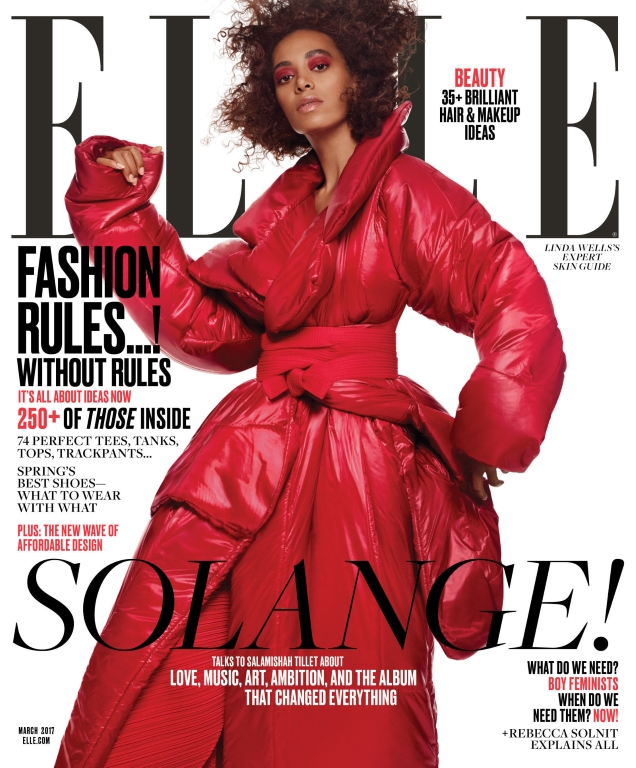 US Elle March 2017 : Solange Knowles by Terry Tsiolis