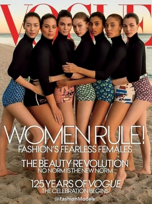 US Vogue March 2017 : Fashion's Fearless Females by Inez & Vinoodh