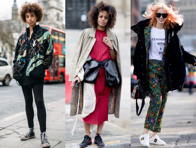 From retro to thoroughly modern, sneakers were one of the best fashion month accessories
