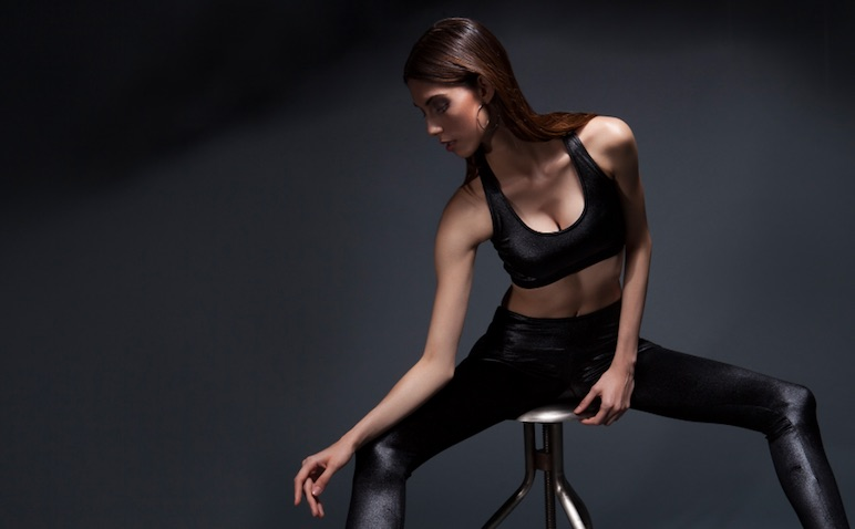 Woman wearing Velvet activewear