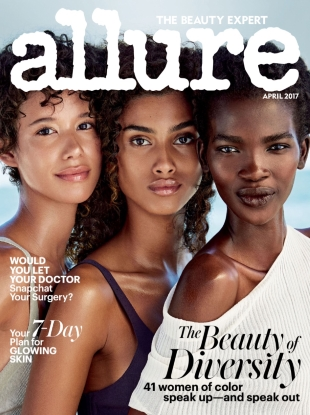 Allure April 2017 : Dilone, Imaan Hammam & Aamito Lagum by Patrick Demarchelier