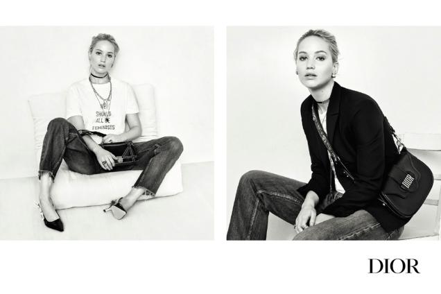 Christian Dior Handbags F/W 2017.18 : Jennifer Lawrence by Brigitte Lacombe