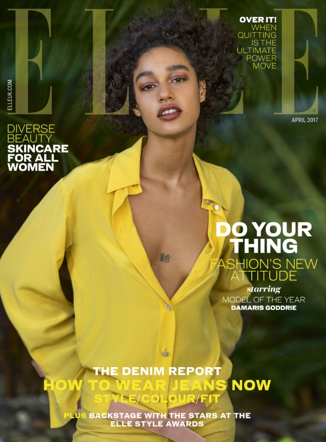 UK Elle April 2017 : Damaris Goddrie by Gilles Bensimon