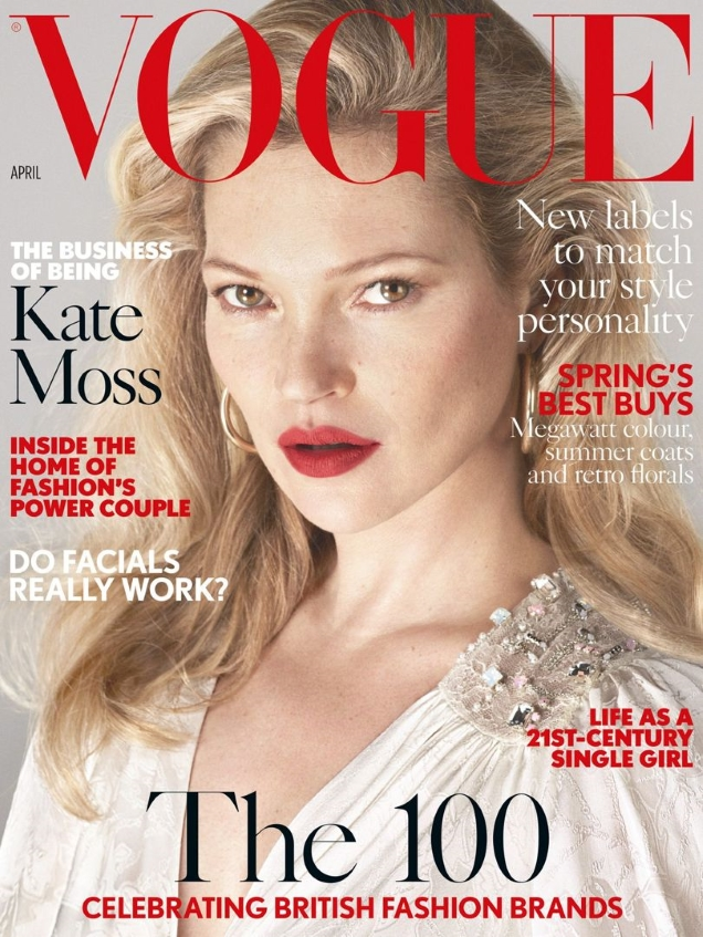 UK Vogue April 2017 : Kate Moss by Mert Alas & Marcus Piggott