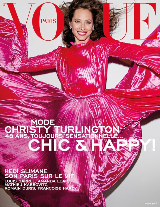 Vogue Paris April 2017 : Christy Turlington by Inez van Lamsweerde & Vinoodh Matadin