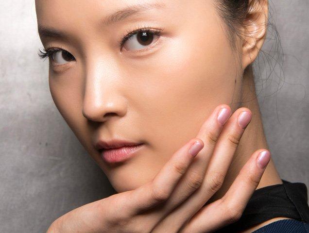 model with beautiful skin