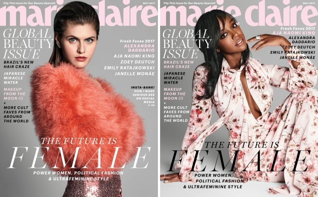 US Marie Claire May 2017 : Fresh Faces by Nicolas Moore