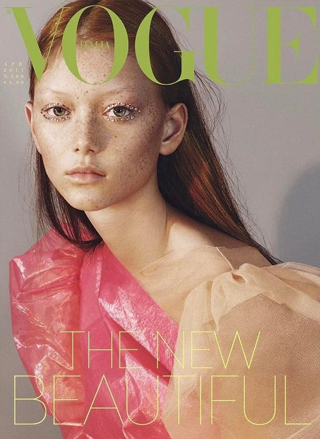 Vogue Italia April 2017 : Sara Grace Wallerstedt by Mert Alas & Marcus Piggott