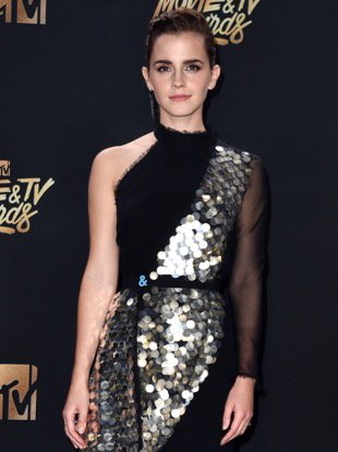 LOS ANGELES, CA - MAY 07: Actor Emma Watson, winner of Best Actor in a Movie award for 'Beauty and the Beast', poses in the press room during the 2017 MTV Movie And TV Awards at The Shrine Auditorium on May 7, 2017 in Los Angeles, California. (Photo by Alberto E. Rodriguez/Getty Images)