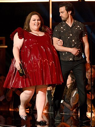 Chrissy Metz and Milo Ventimiglia at the 2017 MTV Movie And TV Awards.