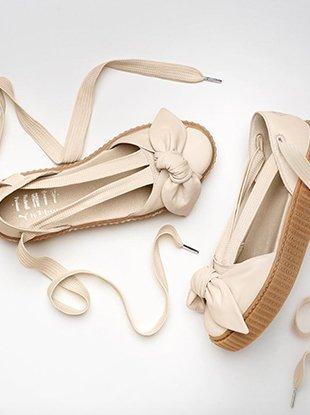 Rihanna's Fenty x Puma Bow Creeper Sandal is now available to shop on Puma.com.