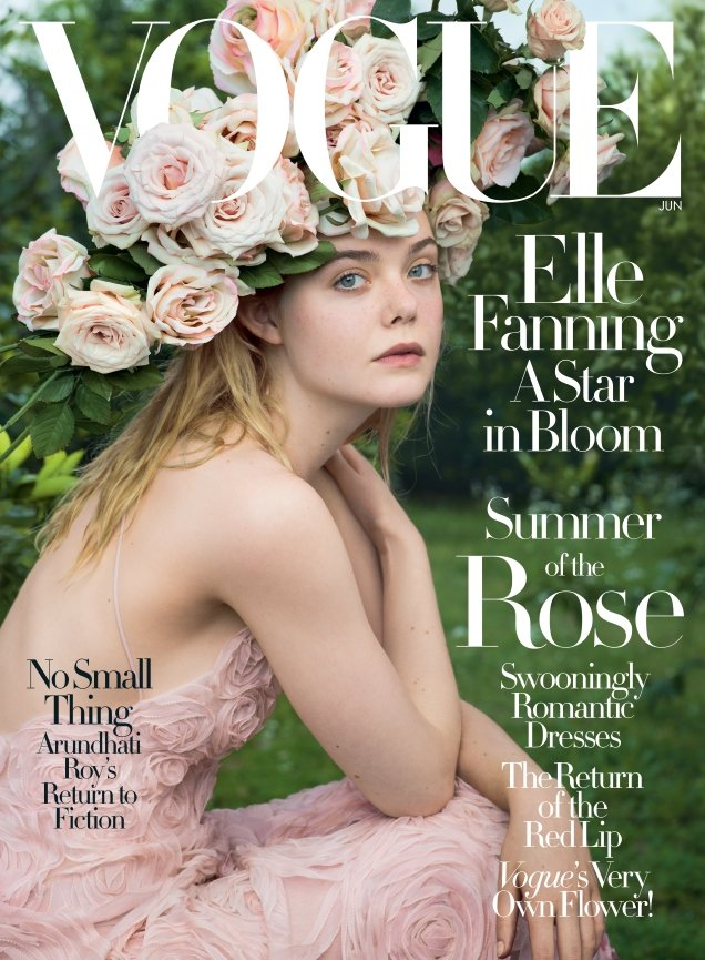 US Vogue June 2017 : Elle Fanning by Annie Leibovitz