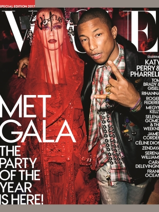 US Vogue Special Edition Met Gala 2017 : Katy Perry & Pharrell by Mario Testino