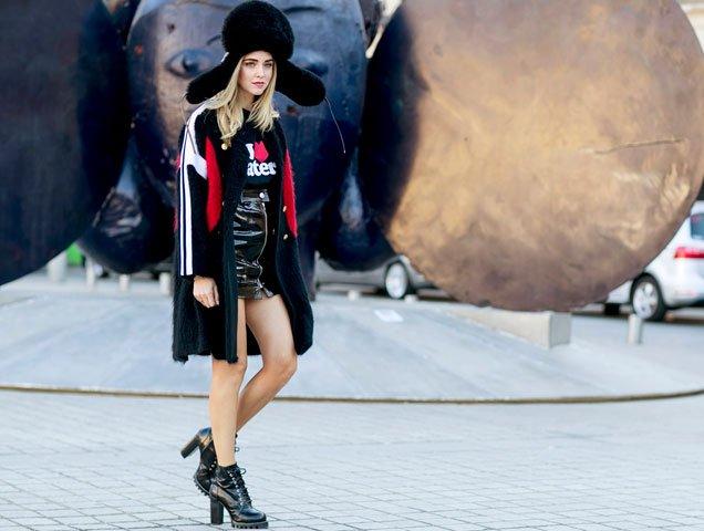 Chiara Ferragni at Paris Street Style Spring 2017