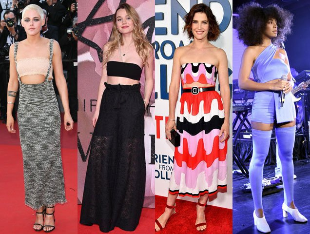 celebrities show how to wear a tube top and bandeau on the red carpet