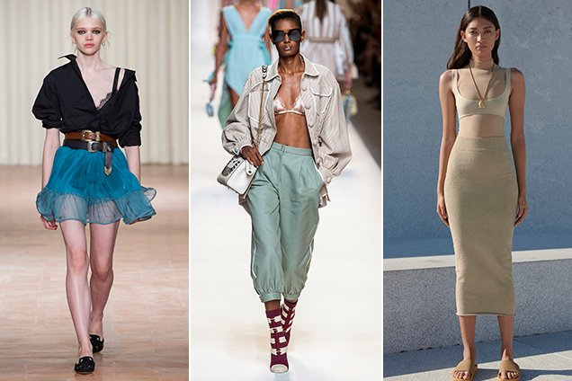 3 Spring 2017 runway looks showing how to wear a bralette