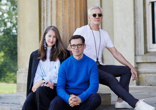 H&M's Ann-Sofie Johansson, designer Erdem Moralioglu and filmmaker Baz Luhrmann