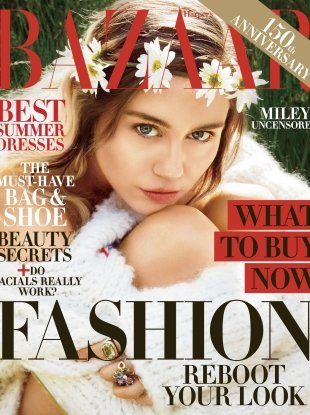US Harper's Bazaar August 2017 : Miley Cyrus by Camilla Akrans