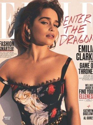 US Elle August 2017 : Emilia Clarke by Alexi Lubomirski