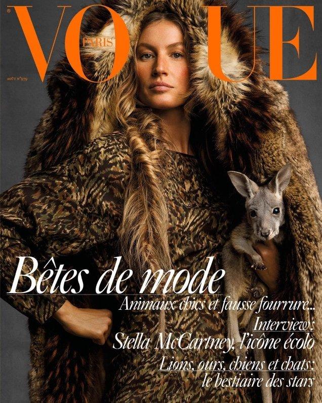 Vogue Paris August 2017 : Gisele Bündchen by Inez van Lamsweerde & Vinoodh Matadin