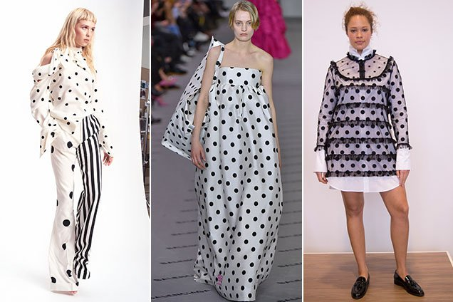 Polka dots in the fall and pre-fall collections.