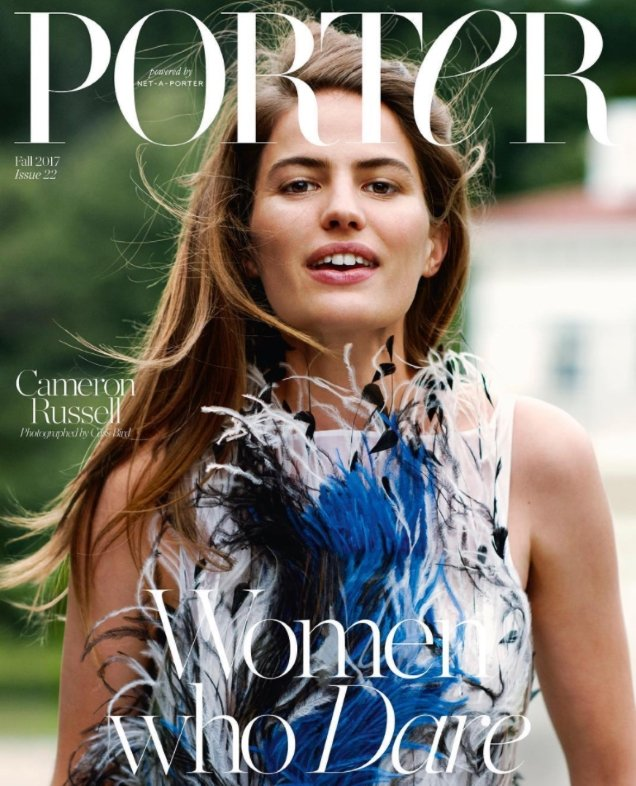 Porter #22 Fall 2017 : Cameron Russell by Cass Bird