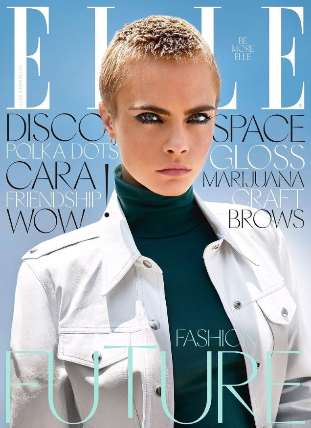 UK Elle September 2017 : Cara Delevingne by Kai Z Feng