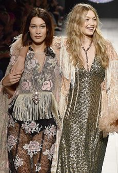 Gigi Hadid Had a Wardrobe Malfunction at Anna Sui and Her Sister Bella Helped Save the Day