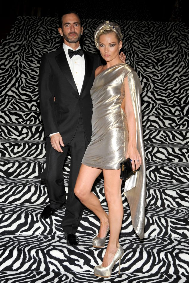 Marc Jacobs and Kate Moss at the 2009 Met Gala.