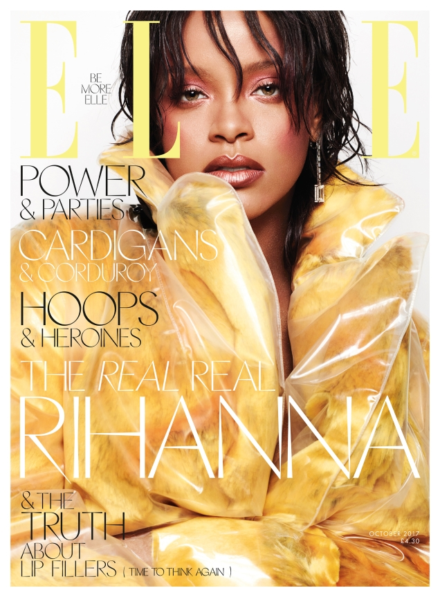 UK Elle October 2017 : Rihanna by Solve Sundsbo