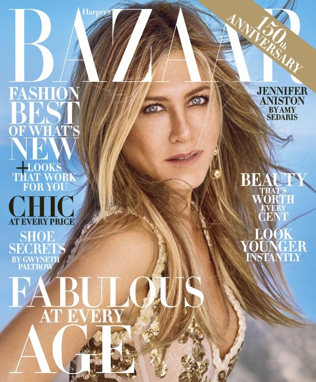 US Harper's Bazaar October 2017 : Jennifer Aniston by Mariano Vivanco
