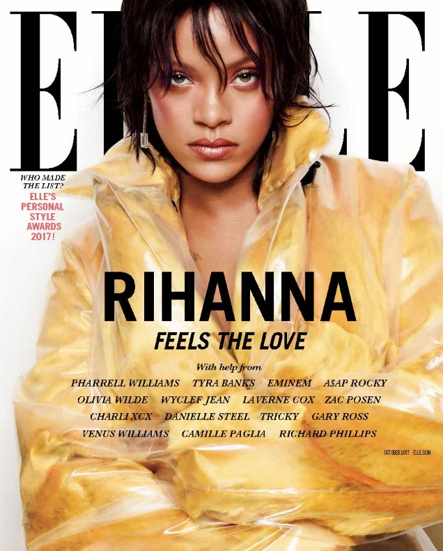 US Elle October 2017 : Rihanna by Solve Sunbsbo