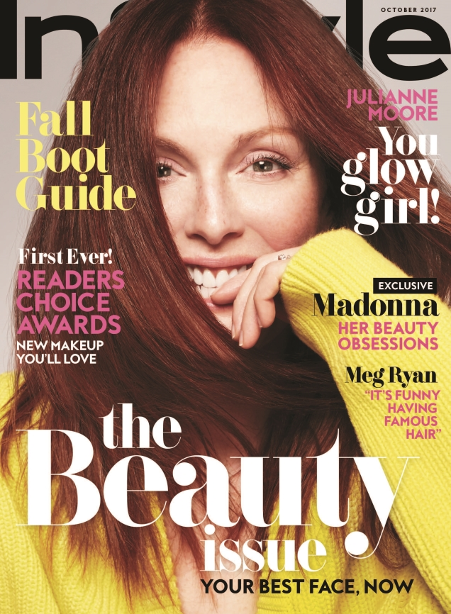 US InStyle October 2017 : Julianne Moore by Anthony Maule