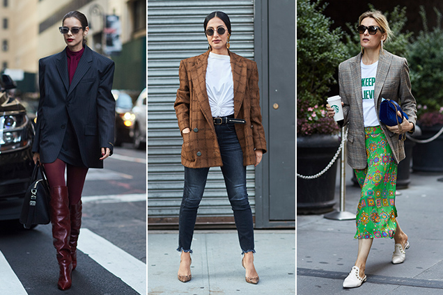 Power blazer street style sightings.