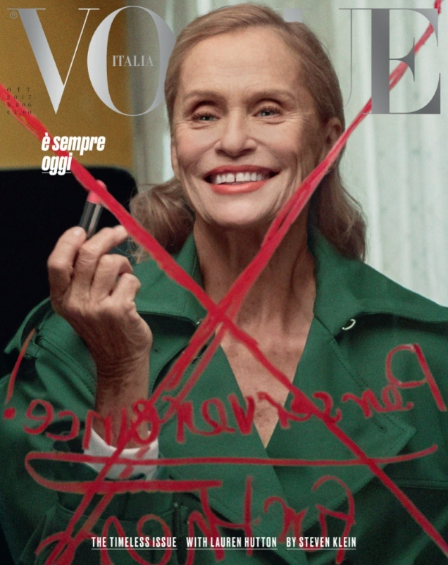 Vogue Italia October 2017 : Lauren Hutton by Steven Klein