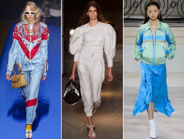 Glamleisure was a big part of the Spring 2018 collections: Gucci Spring 2018, Isabel Marant Spring 2018, Peter Pilotto Spring 2018