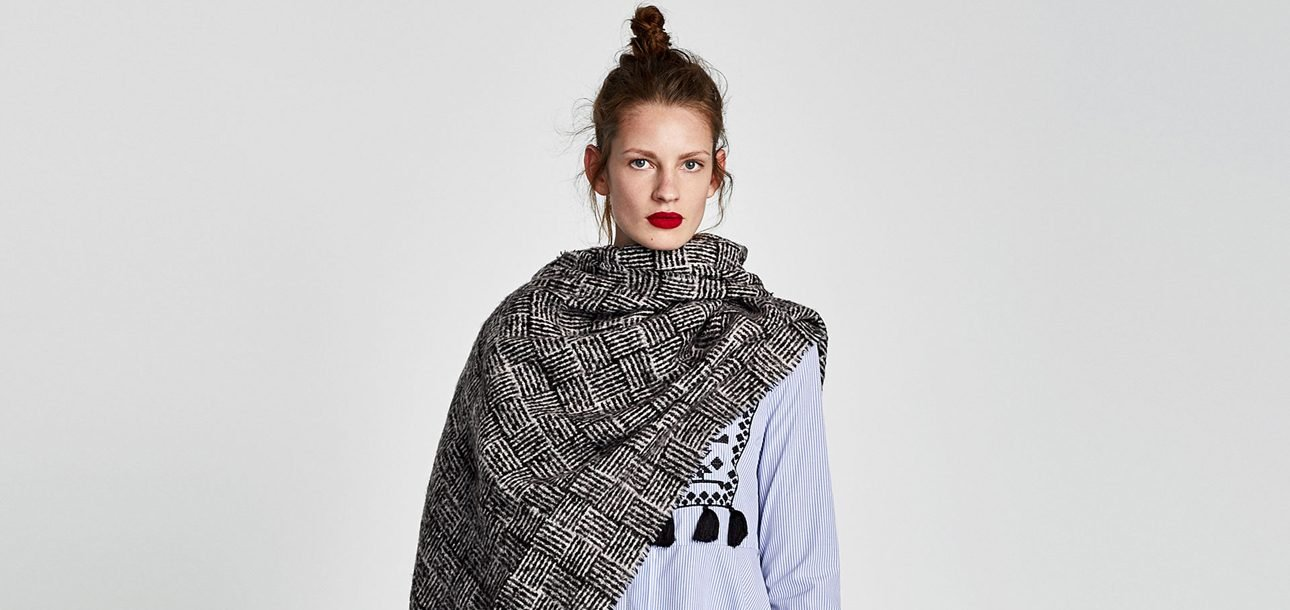 Remarkably Fresh and Interesting Scarf-Styling Tips, Courtesy of Zara