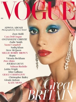 UK Vogue December 2017 : Adwoa Aboah by Steven Meisel
