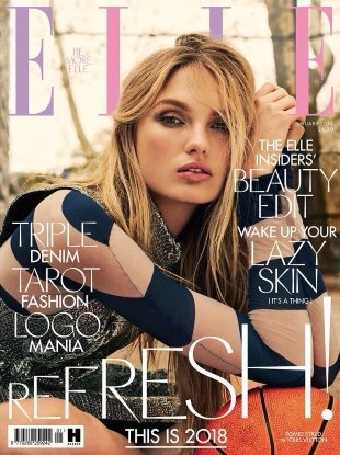 UK Elle January 2018 : Romee Strijd by Laurie Bartley