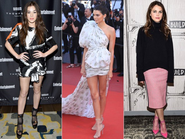 Hailee Steinfeld, Kendall Jenner and Keri Russell show off sheer socks