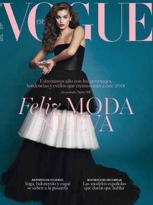 Vogue España January 2018 : Taylor Hill by Bjorn Iooss